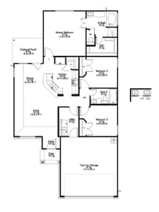 S-1262 New Home Floor Plan