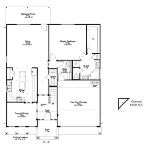 E-3268 New Home in Montgomery, TX First Level