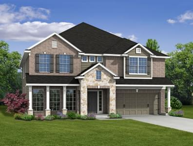 6br New Home in Montgomery, TX Elevation A