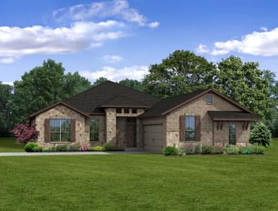 2,461sf New Home in College Station, TX Elevation B