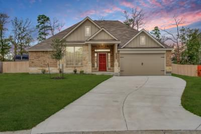 Huntsville, TX New Home Elevation A