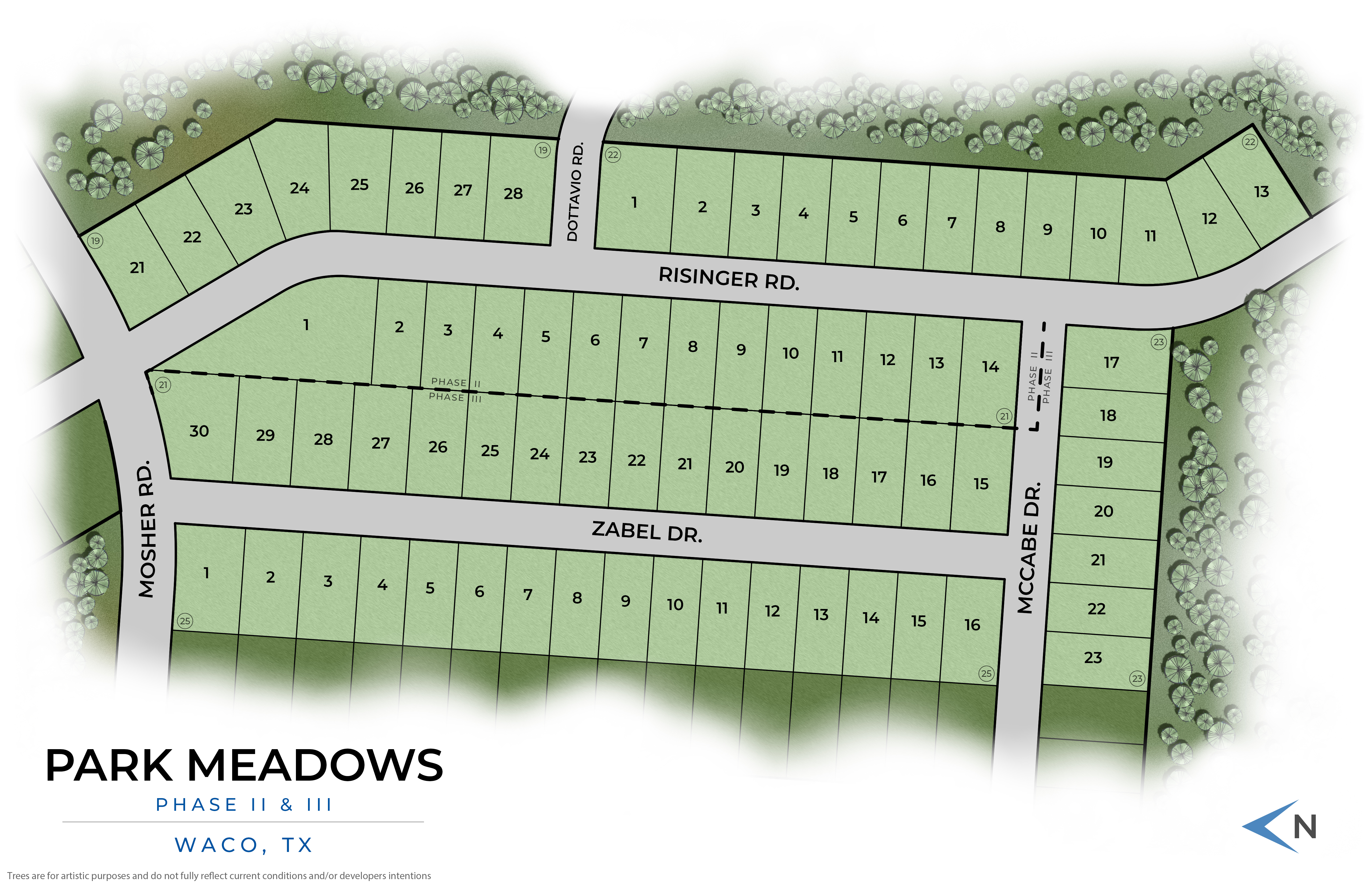 Waco, TX The Enclave at Park Meadows New Homes from Stylecraft Builders