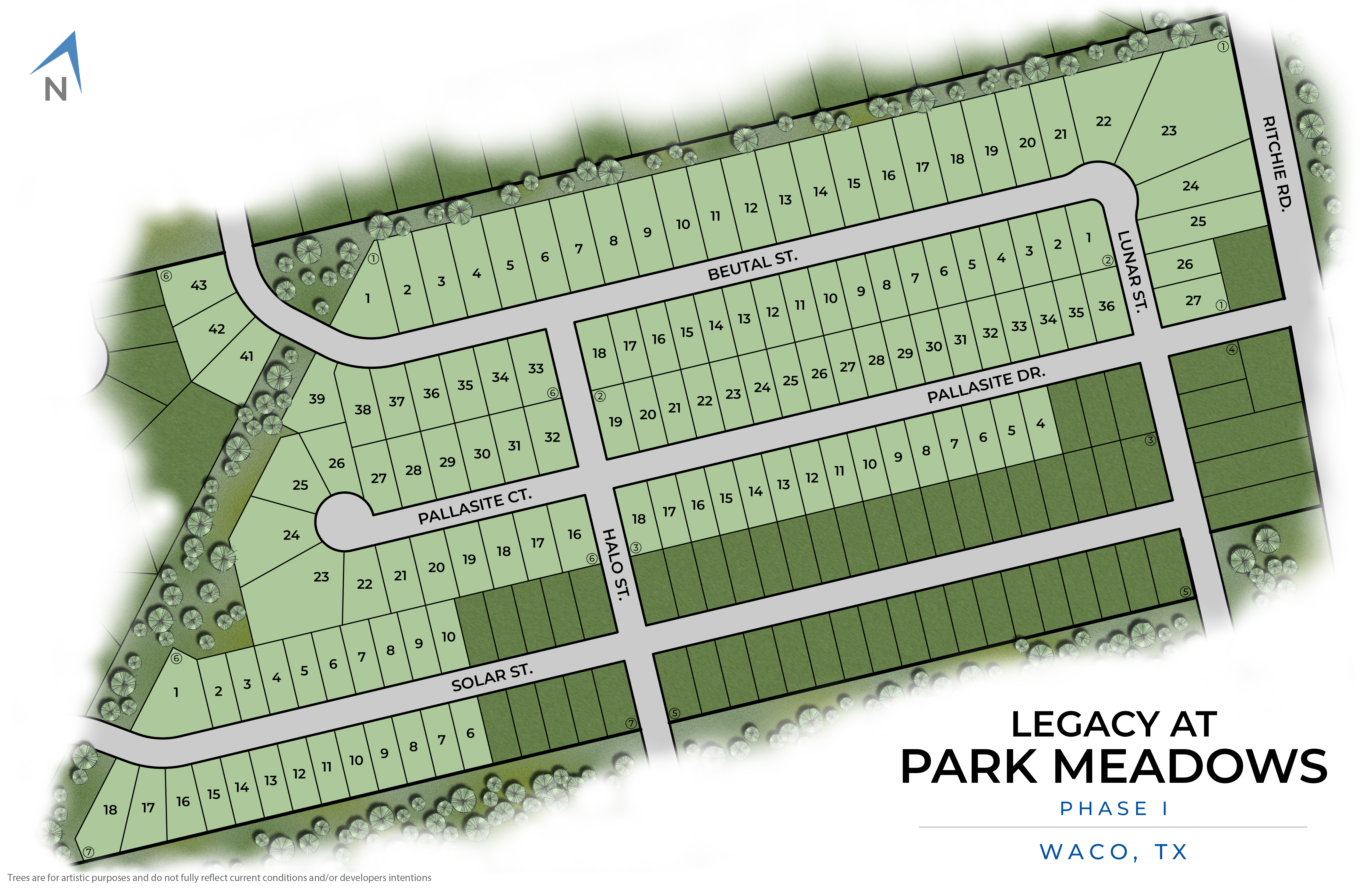 Waco, TX Legacy at Park Meadows New Homes from Stylecraft Builders