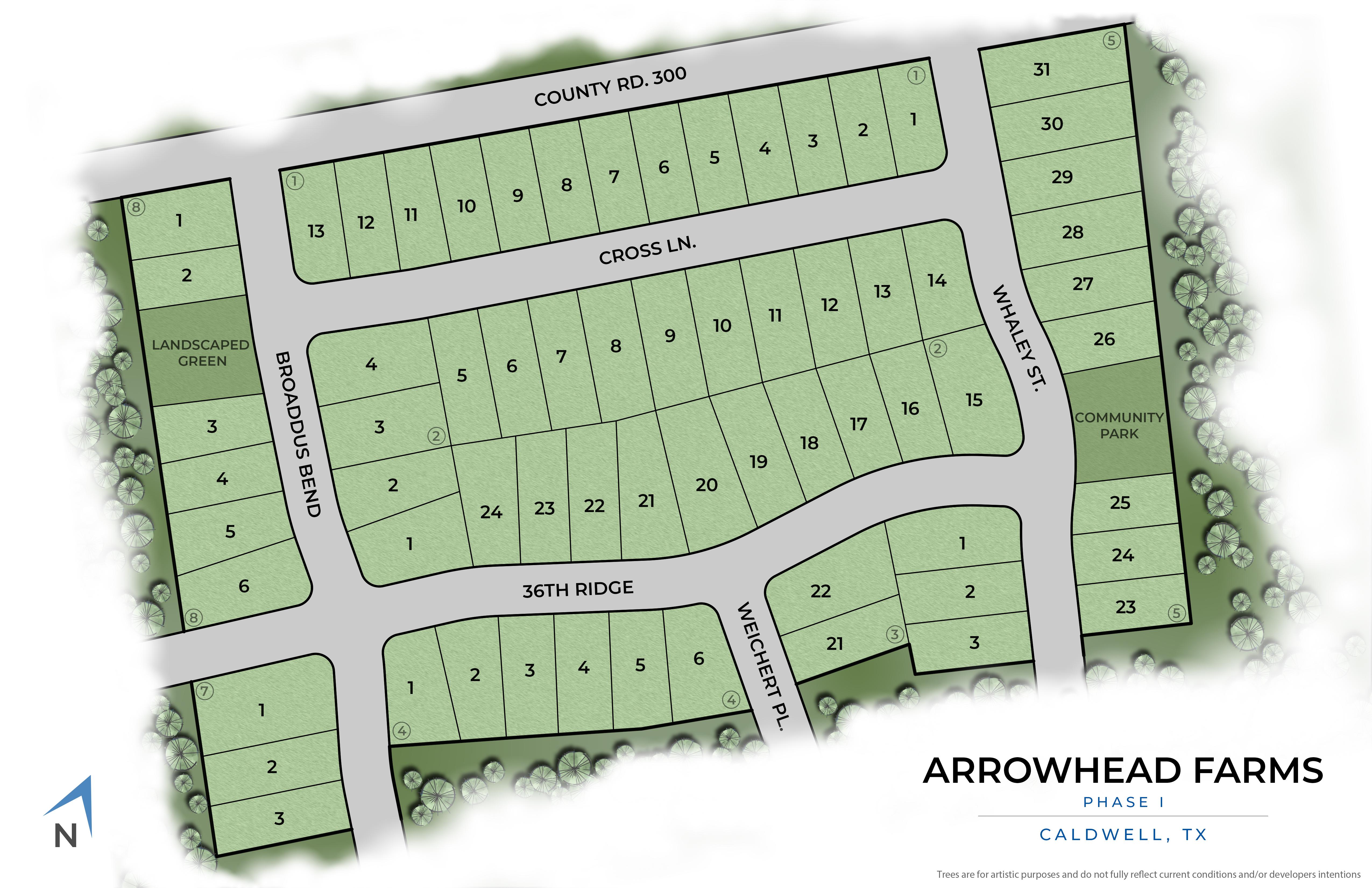 Caldwell, TX Arrowhead Farms New Homes from Stylecraft Builders