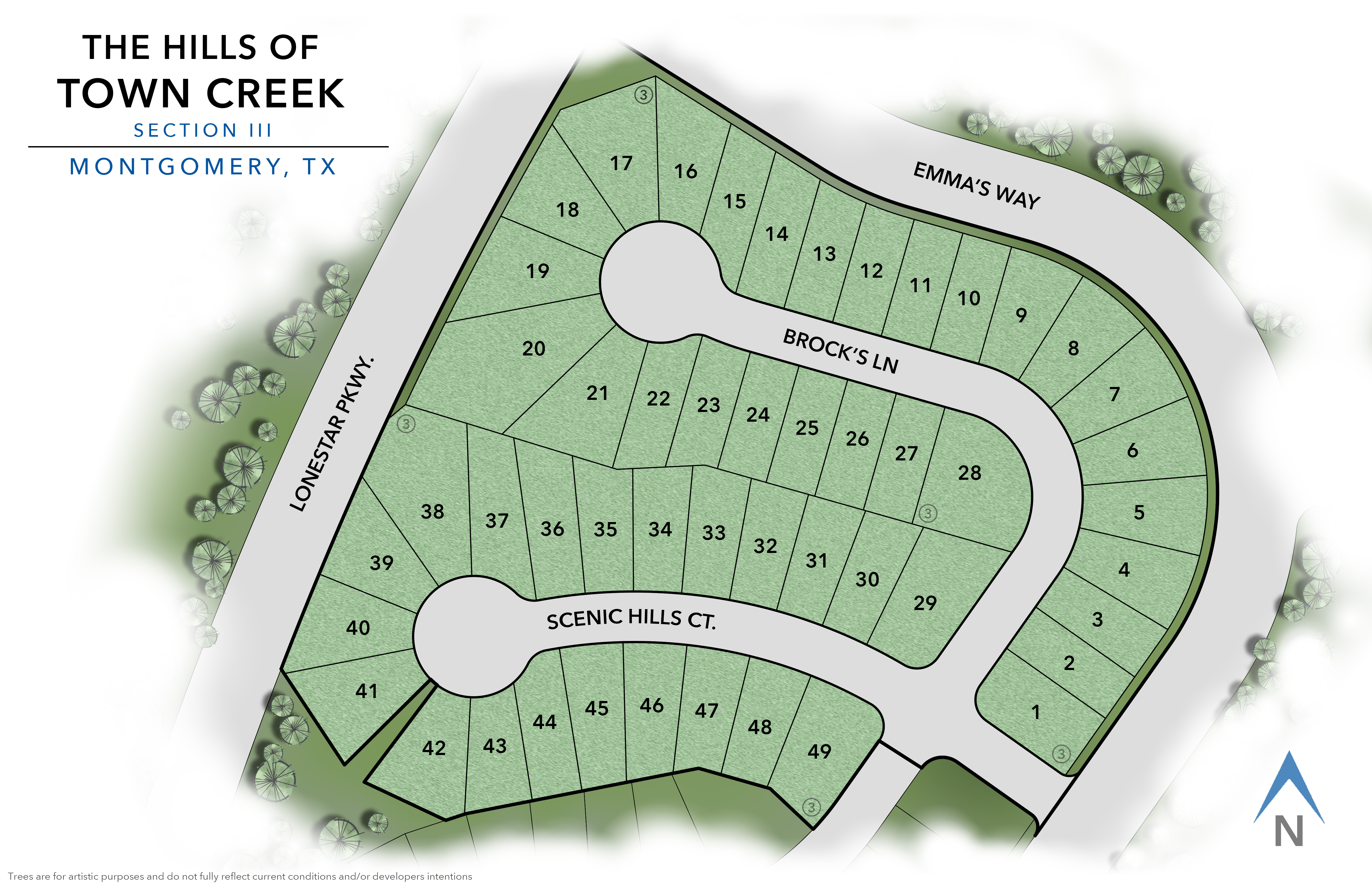 Montgomery, TX The Hills of Town Creek New Homes from Stylecraft Builders