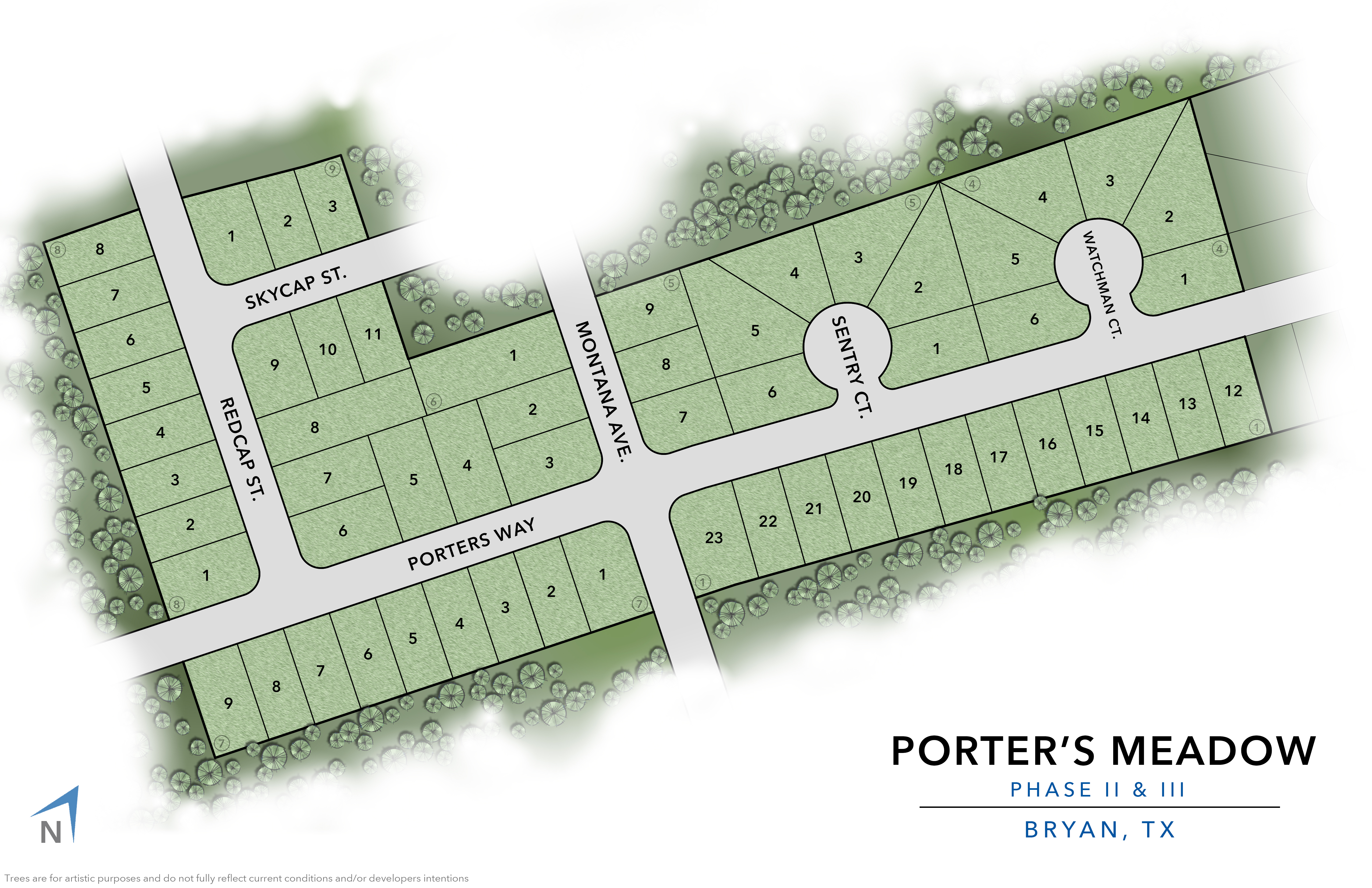 Bryan, TX Porter's Meadow New Homes from Stylecraft Builders