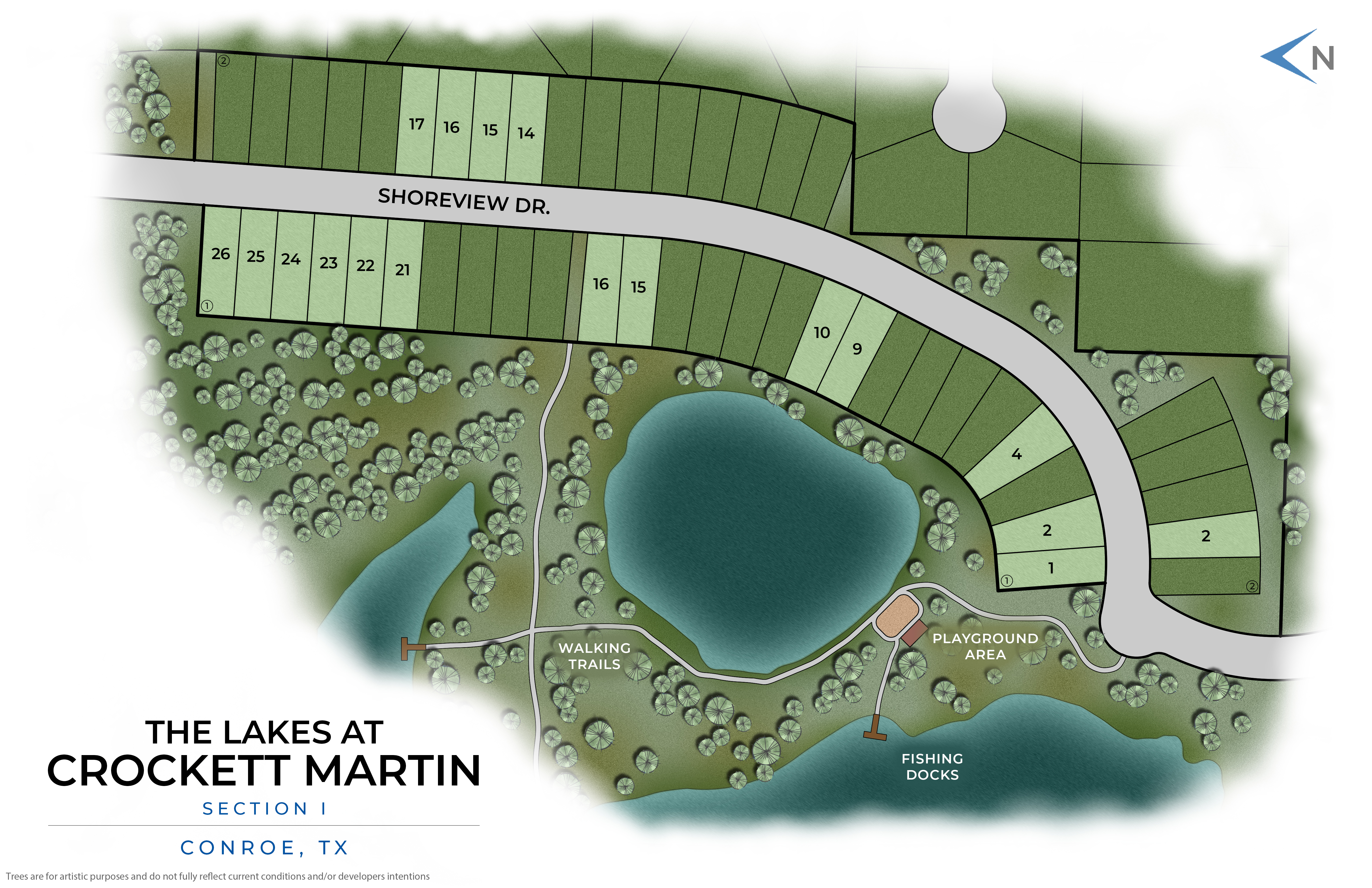Conroe, TX The Lakes at Crockett Martin New Homes from Stylecraft Builders