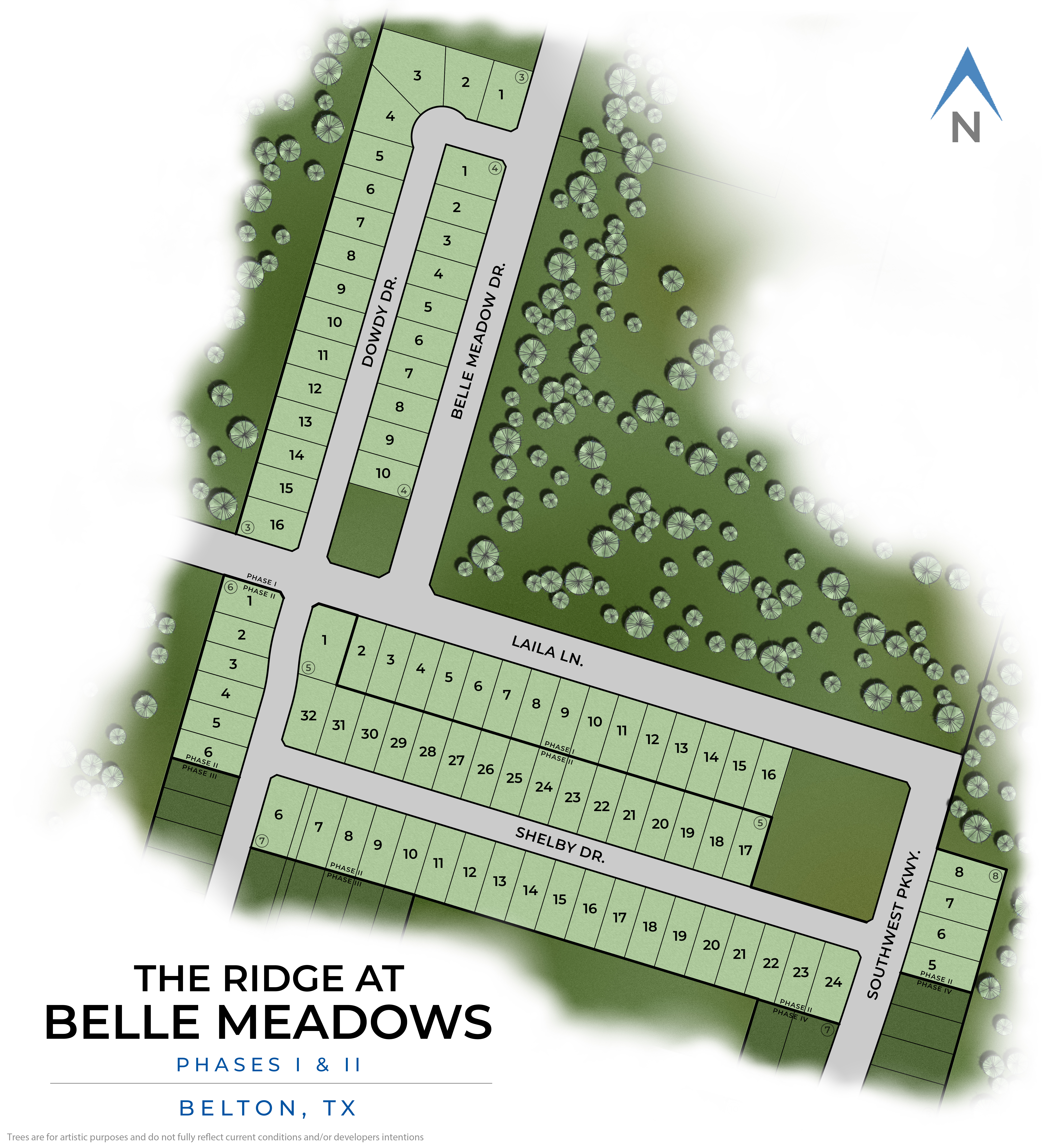 Belton, TX The Ridge at Belle Meadows New Homes from Stylecraft Builders